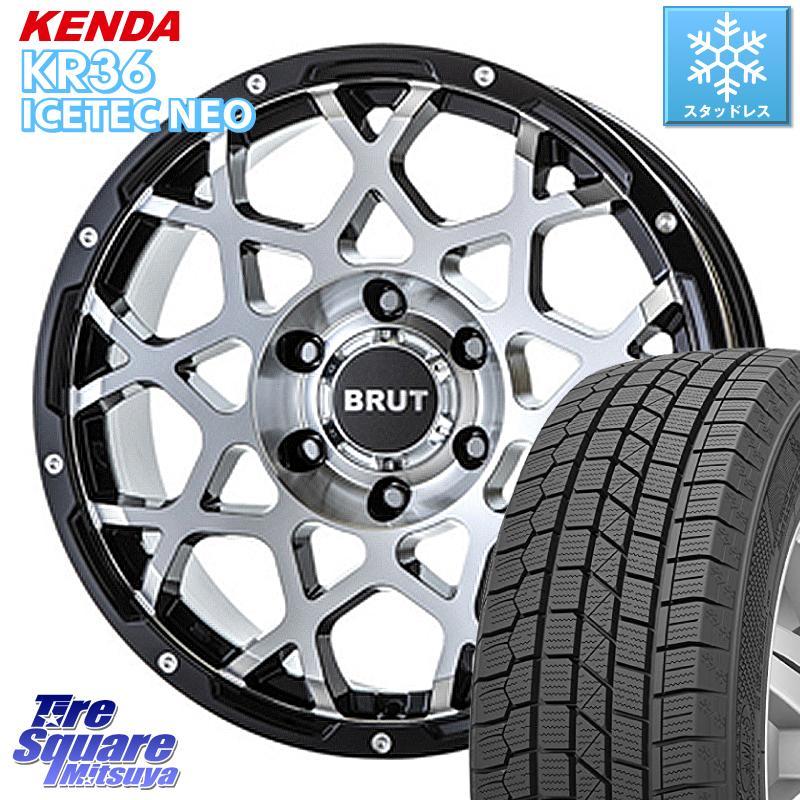 8 20はお盆明け初売りセール KENDA ICETEC NEO KR36 2020年製 ケンダ スタッドレスタイヤ 215 60R16 BRUT BR-55 BR55 ホイールセット 16インチ 16 X 6.5J 35 5穴 114.3