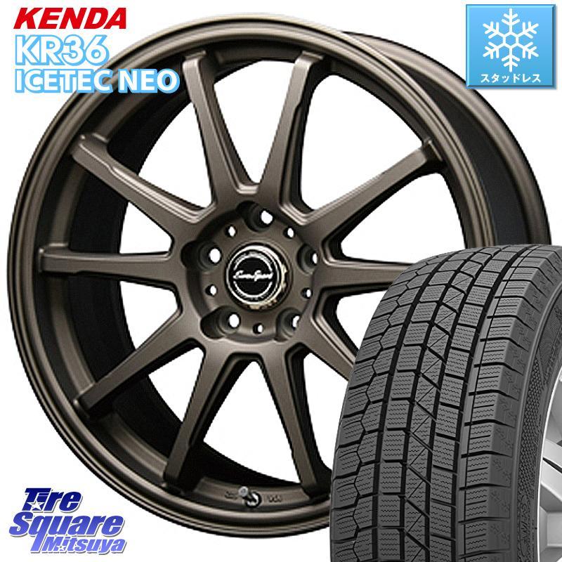レガシー フォレスター KENDA ICETEC NEO KR36 2020年製 ケンダ スタッドレスタイヤ 225/45R18 BLEST Eurosport TypeSS-01 ホイールセット 18インチ 18 X 7.0J +48 5穴 100