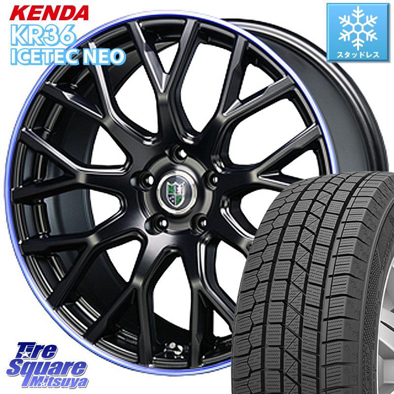 【8/20はお盆明け初売りセール】 CX-5 KENDA ICETEC NEO KR36 2020年製 ケンダ スタッドレスタイヤ 235/55R18 BLEST Bahnsport Type902 ホイールセット 18インチ 18 X 7.0J +48 5穴 114.3