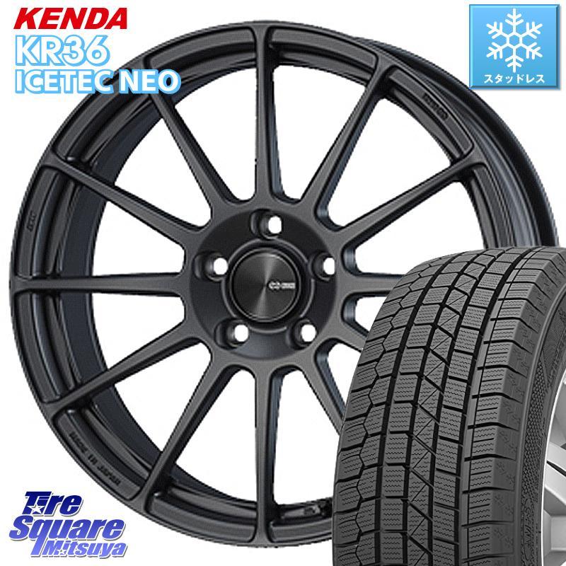 【8/20はお盆明け初売りセール】 KENDA ICETEC NEO KR36 2020年製 ケンダ スタッドレスタイヤ 205/60R16 ENKEI エンケイ PerformanceLine PF03 ホイールセット 16 X 6.5J(MB) +45 5穴 112