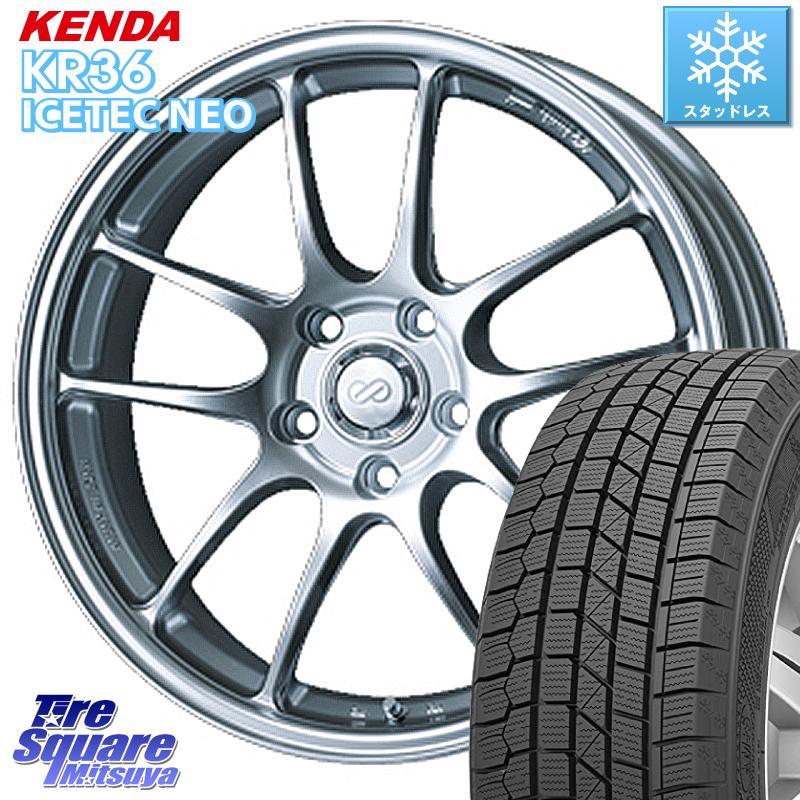 8 20はお盆明け初売りセール エスティマ KENDA ICETEC NEO KR36 2020年製 ケンダ スタッドレスタイヤ 235 50R18 ENKEI エンケイ PerformanceLine PF01 ホイールセット 18 X 7.0J 48