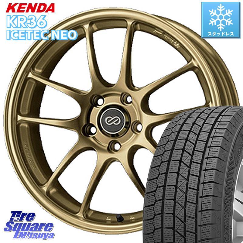 8 20はお盆明け初売りセール CX-5 KENDA ICETEC NEO KR36 2020年製 ケンダ スタッドレスタイヤ 235 55R18 ENKEI エンケイ PerformanceLine PF01 ホイールセット 18 X 7.0J 48 5