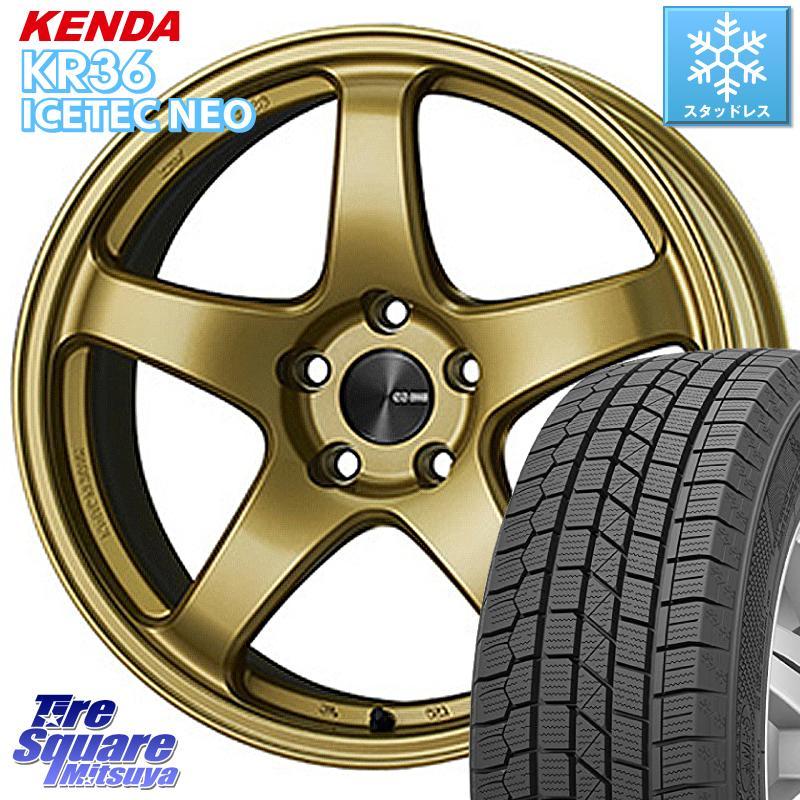 【8/20はお盆明け初売りセール】 KENDA ICETEC NEO KR36 2020年製 ケンダ スタッドレスタイヤ 195/45R16 ENKEI エンケイ PerformanceLine PF05 ホイールセット 16インチ 16 X 6.5J +50 4穴 100