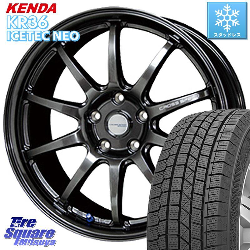 KENDA ICETEC NEO KR36 2020年製 ケンダ スタッドレスタイヤ 235/55R18 HotStuff クロススピード CR10 CR-10 軽量 ホイールセット 18インチ 18 X 8.5J +38 5穴 114.3