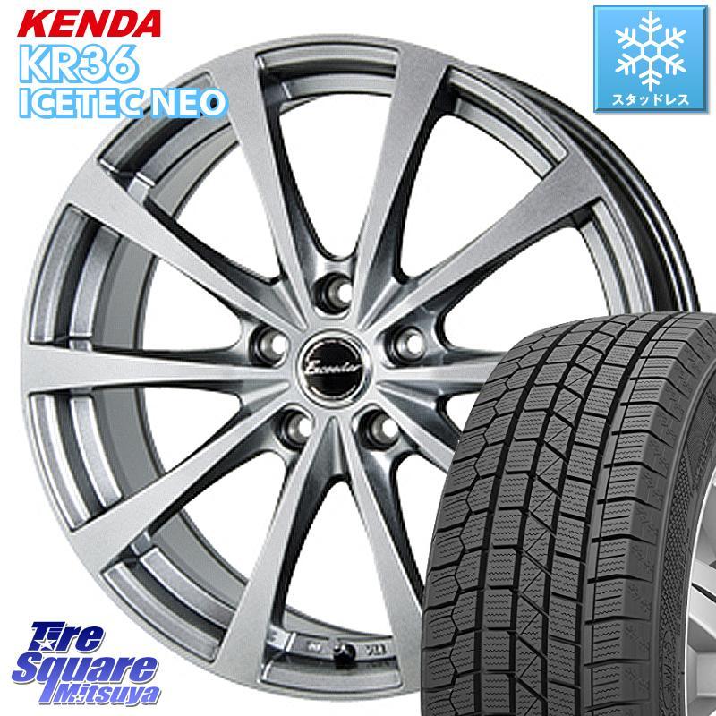 KENDA ICETEC NEO KR36 2020年製 ケンダ スタッドレスタイヤ 185/55R16 HotStuff エクシーダー E03 ホイールセット 16インチ 16 X 6.5J +48 5穴 114.3