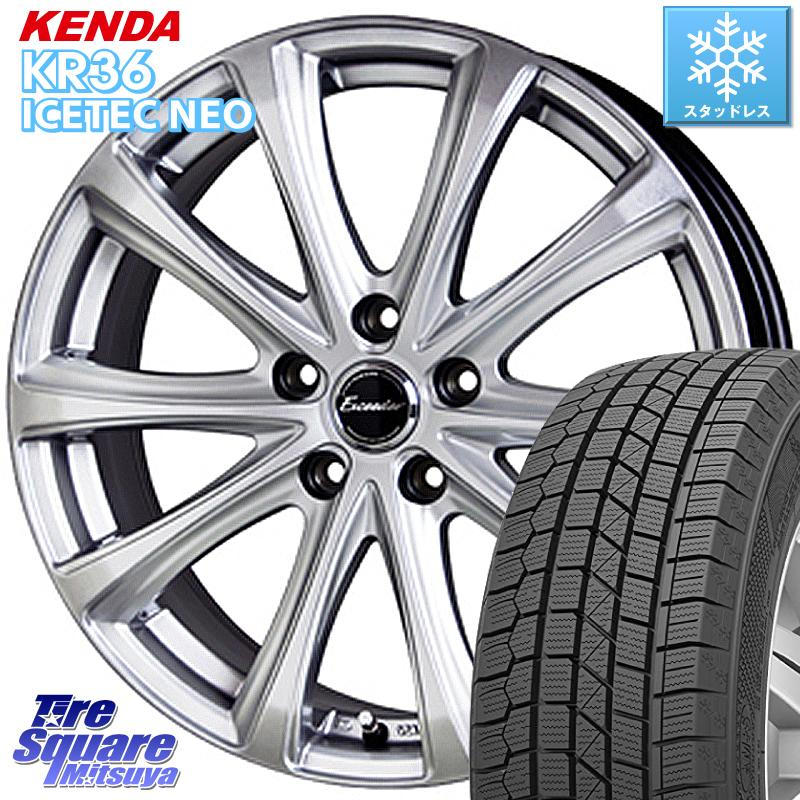 KENDA ICETEC NEO KR36 2020年製 ケンダ スタッドレスタイヤ 185/55R16 HotStuff エクシーダー E04 ホイールセット 16インチ 16 X 6.5J +48 5穴 114.3