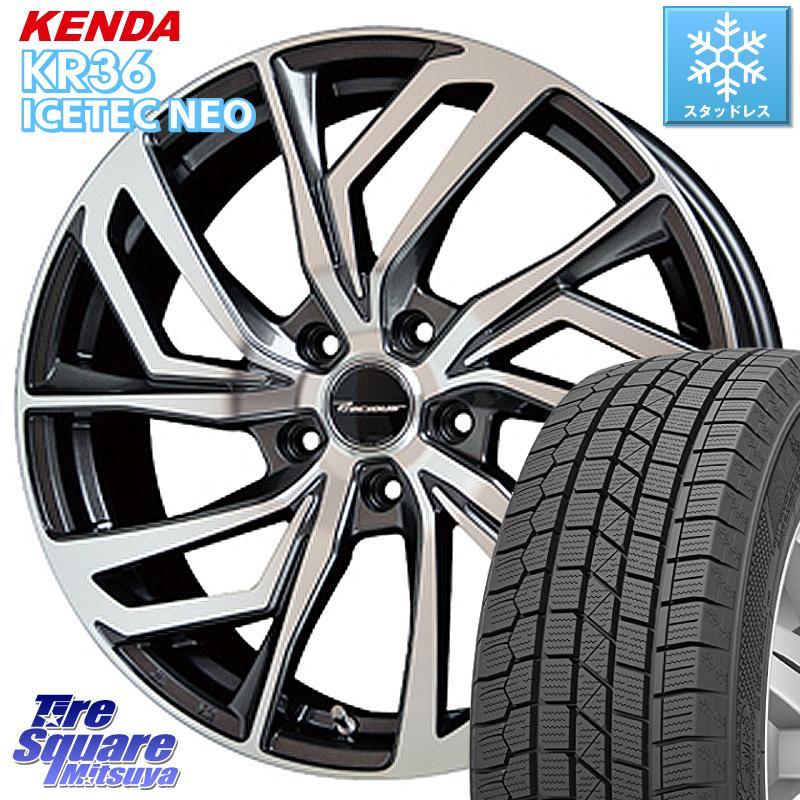 アルファード KENDA ICETEC NEO KR36 2020年製 ケンダ スタッドレスタイヤ 235/50R18 HotStuff プレシャス Precious C-1 C1 ホイールセット 18 X 7.5J +38 5穴 114.3