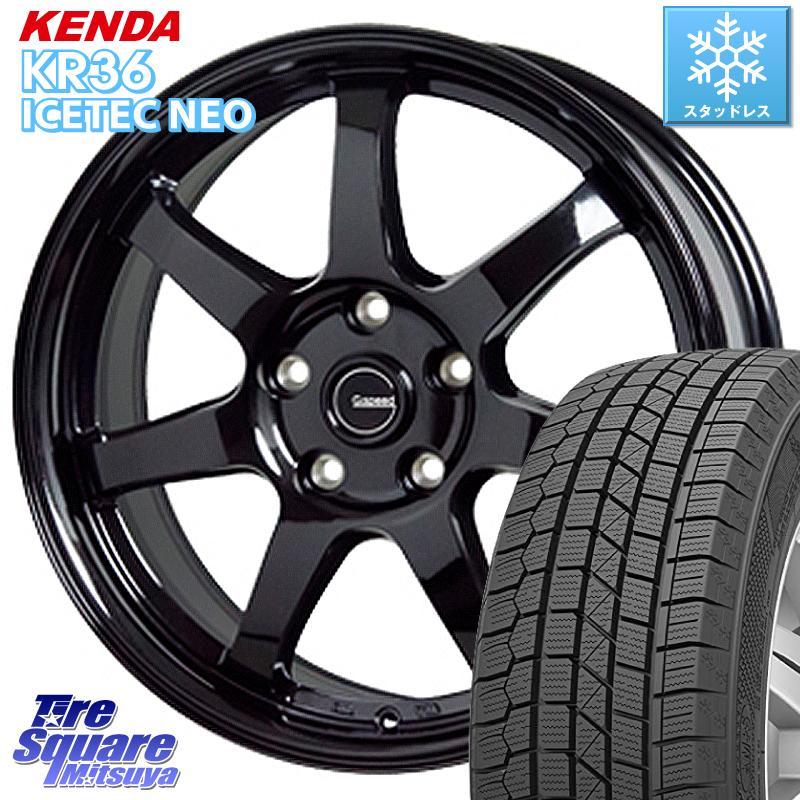 KENDA ICETEC NEO KR36 2020年製 ケンダ スタッドレスタイヤ 185/65R15 HotStuff G-SPEED G-03 G03 ブラック ホイールセット 15インチ 15 X 6.0J +43 5穴 114.3