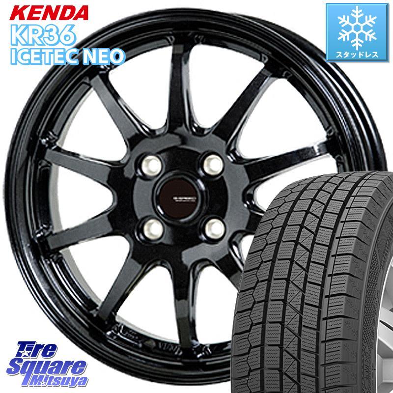 KENDA ICETEC NEO KR36 2020年製 ケンダ スタッドレスタイヤ 165/70R14 HotStuff G-SPEED G-04 G04 ブラック ホイールセット 14インチ 14 X 4.5J +45 4穴 100