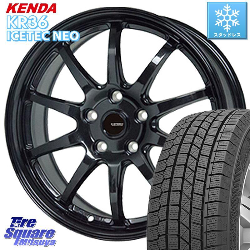 KENDA ICETEC NEO KR36 2020年製 ケンダ スタッドレスタイヤ 195/65R15 HotStuff G-SPEED G-04 G04 ブラック ホイールセット 15インチ 15 X 6.0J +53 5穴 114.3