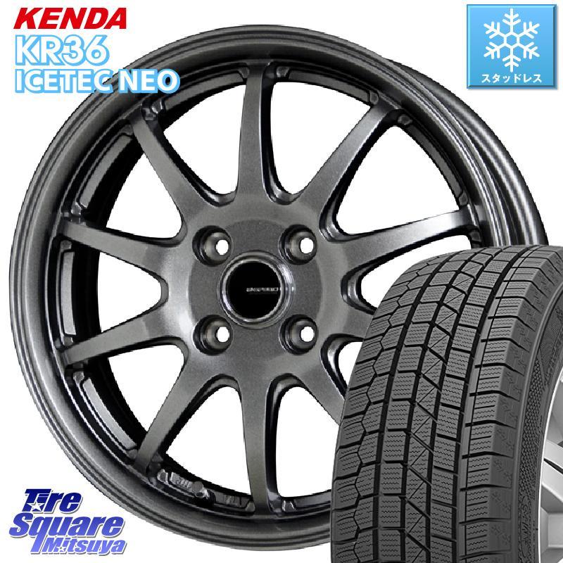 KENDA ICETEC NEO KR36 2020年製 ケンダ スタッドレスタイヤ 165/60R15 HotStuff G-SPEED G-04 G04 ダークシルバー ホイールセット 15インチ 15 X 5.5J +43 4穴 100