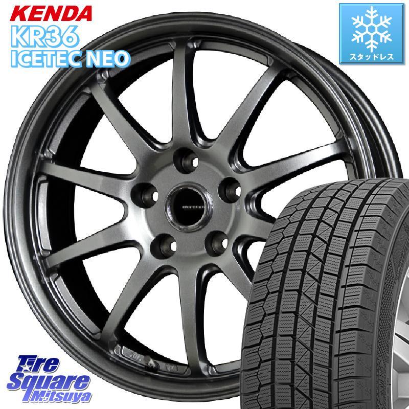 KENDA ICETEC NEO KR36 2020年製 ケンダ スタッドレスタイヤ 195/60R15 HotStuff G-SPEED G-04 G04 ダークシルバー ホイールセット 15インチ 15 X 6.0J +43 5穴 114.3