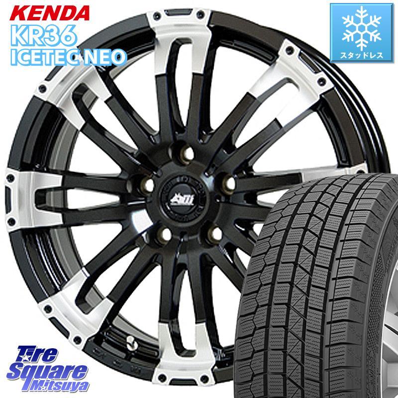 KENDA ICETEC NEO KR36 2020年製 ケンダ スタッドレスタイヤ 215/50R17 HotStuff MAD CROSS WOLF センターキャップ付 17 X 7.0J +42 5穴 114.3