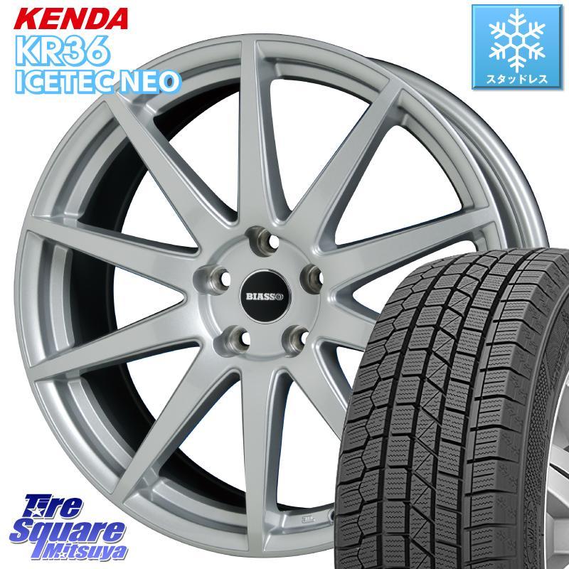 KENDA ICETEC NEO KR36 2020年製 ケンダ スタッドレスタイヤ 215/55R17 HotStuff BIASSO BI-01 BI01 ホイールセット 17 X 7.0J +40 5穴 110