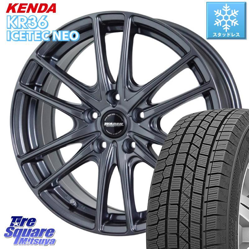 KENDA ICETEC NEO KR36 2020年製 ケンダ スタッドレスタイヤ 195/65R15 HotStuff WAREN ヴァーレン W03 ホイールセット 4本 15インチ 15 X 6.0J +43 5穴 100