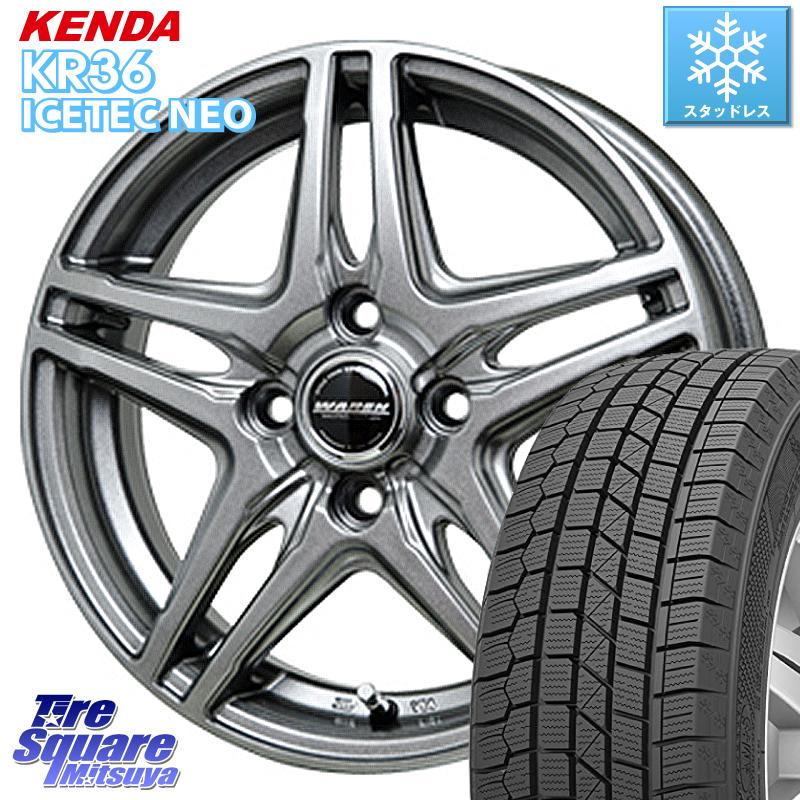 KENDA ICETEC NEO KR36 2020年製 ケンダ スタッドレスタイヤ 165/70R14 HotStuff WAREN ヴァーレン W04 4本 ホイールセット 14インチ 14 X 5.5J +45 4穴 100