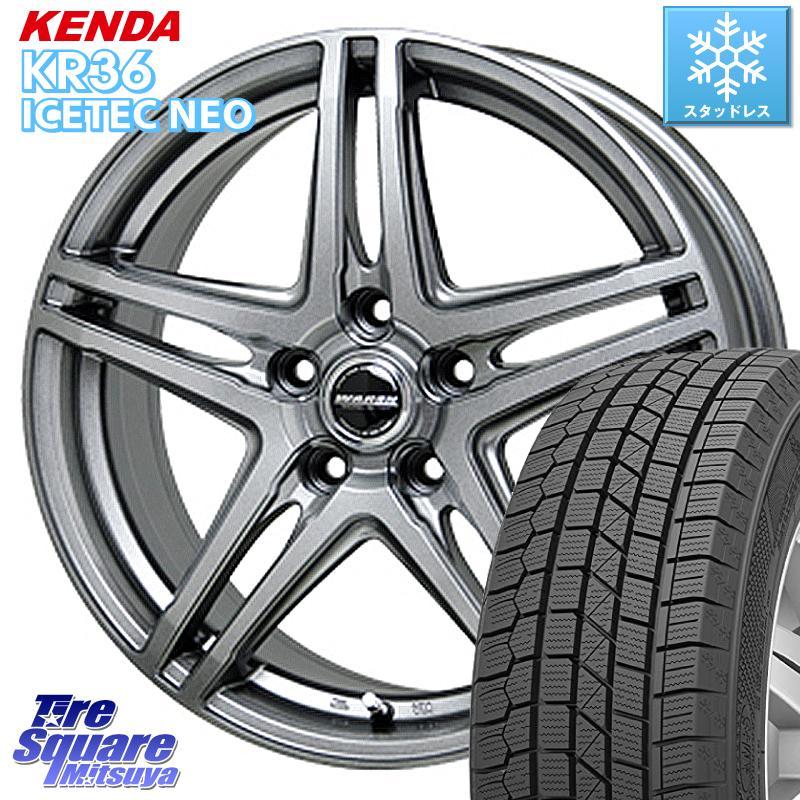 KENDA ICETEC NEO KR36 2020年製 ケンダ スタッドレスタイヤ 195/65R15 HotStuff WAREN ヴァーレン W04 4本 ホイールセット 15インチ 15 X 6.0J +43 5穴 100