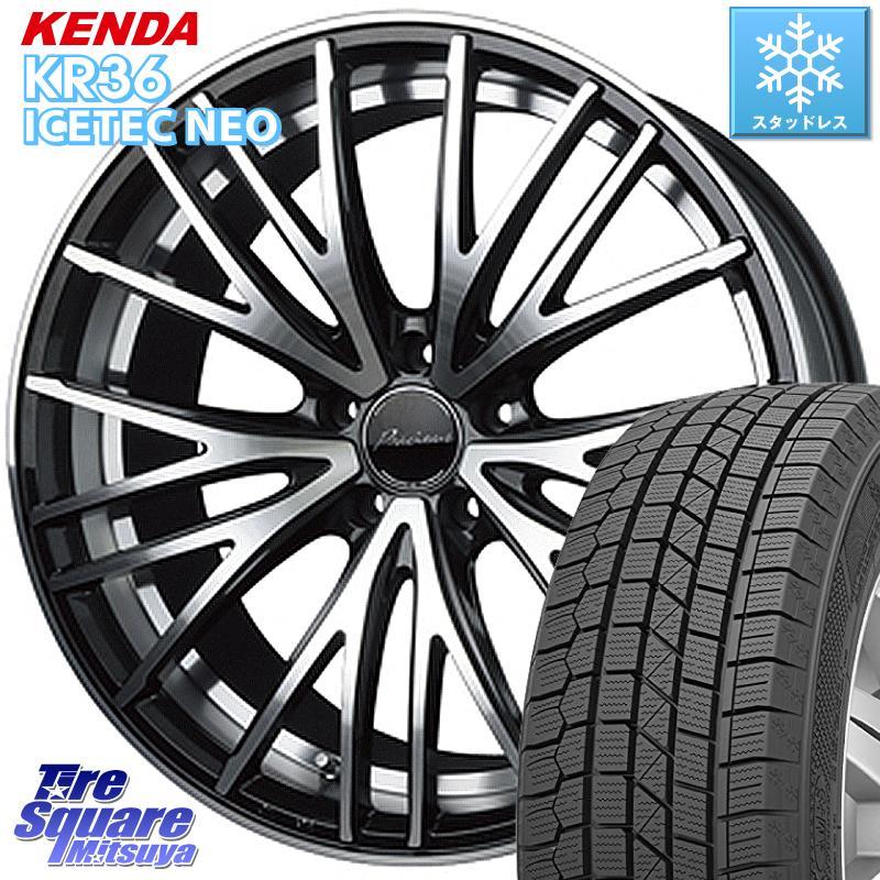KENDA ICETEC NEO KR36 2020年製 ケンダ スタッドレスタイヤ 225/55R18 HotStuff プレシャス アスト M1 ホイールセット 18インチ 18 X 8.0J +42 5穴 114.3