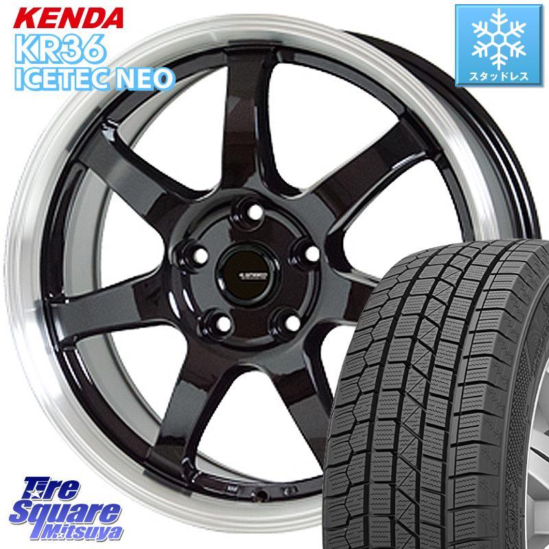 KENDA ICETEC NEO KR36 2020年製 ケンダ スタッドレスタイヤ 185/60R15 HotStuff 軽量設計!G.speed P-03 ホイールセット 15インチ 8月末迄特価 15 X 6.0J +43 5穴 114.3