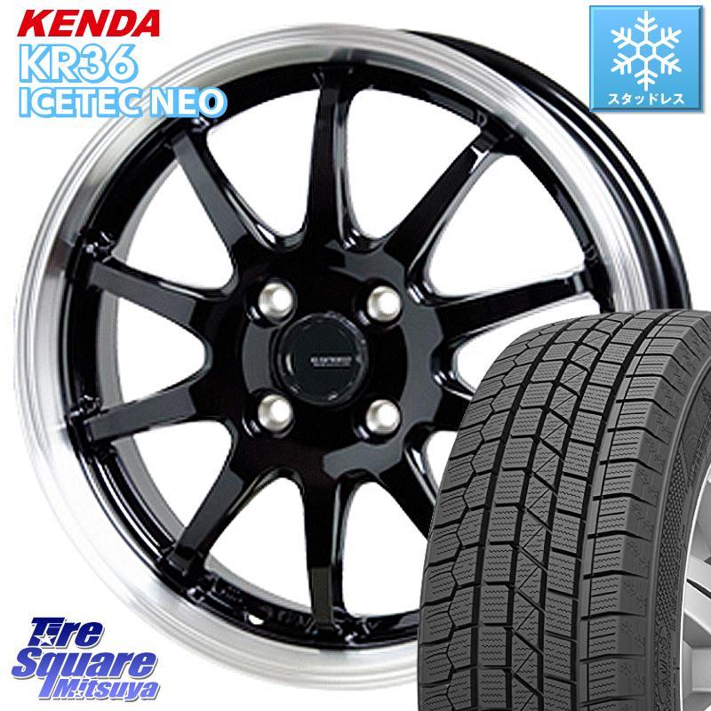 【8/25は最大21倍】 エクシーガ KENDA ICETEC NEO KR36 2020年製 ケンダ スタッドレスタイヤ 205/60R16 HotStuff 軽量設計!G.speed P-04 ホイールセット 16インチ 8月末迄特価 16 X 6.5J +48 5穴 100