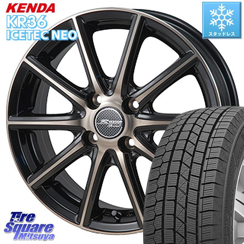 【8/25は最大21倍】 KENDA ICETEC NEO KR36 2020年製 ケンダ スタッドレスタイヤ 155/65R14 MONZA R VERSION sprint ホイールセット 14 X 4.5J +45 4穴 100