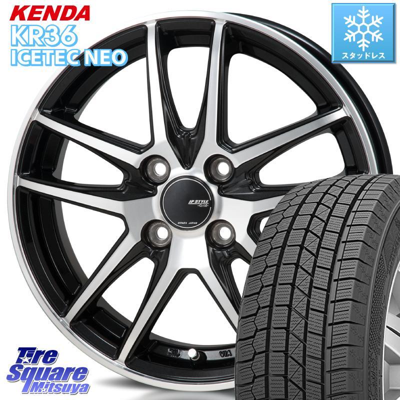 【8/25は最大21倍】 フィット KENDA ICETEC NEO KR36 2020年製 ケンダ スタッドレスタイヤ 175/70R14 MONZA JP STYLE GRID ホイール セット 14インチ 14 X 5.5J +47 4穴 100