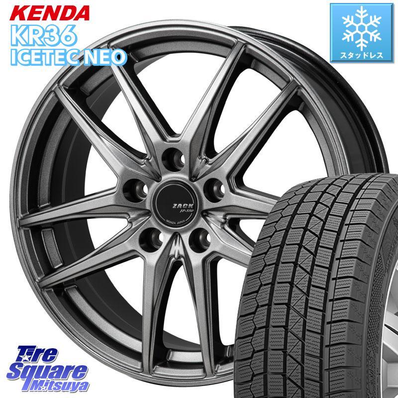 KENDA ICETEC NEO KR36 2020年製 ケンダ スタッドレスタイヤ 185/55R16 Japan三陽 ZACK JP-550 ホイールセット 16インチ 16 X 6.5J +48 5穴 114.3