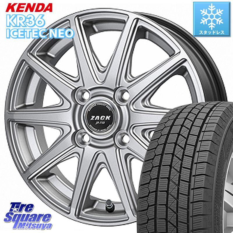 KENDA ICETEC NEO KR36 2020年製 ケンダ スタッドレスタイヤ 185/60R15 Japan三陽 ZACK JP-710 ホイールセット 15インチ 15 X 5.5J +43 4穴 100