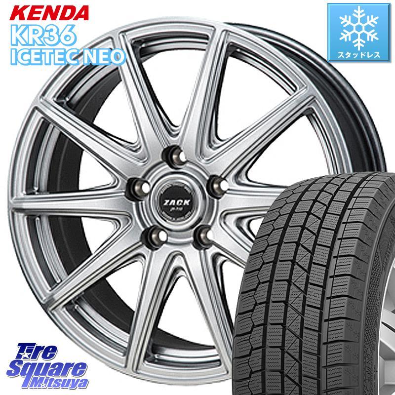 KENDA ICETEC NEO KR36 2020年製 ケンダ スタッドレスタイヤ 185/55R16 Japan三陽 ZACK JP-710 ホイールセット 16インチ 16 X 6.5J +48 5穴 114.3