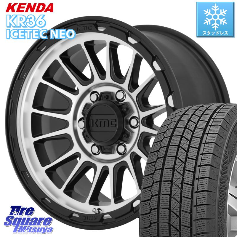 KENDA ICETEC NEO KR36 2020年製 ケンダ スタッドレスタイヤ 215/70R16 KMC KM542 Impact ホイール セット 16インチ 16 X 7.0J +30 5穴 114.3
