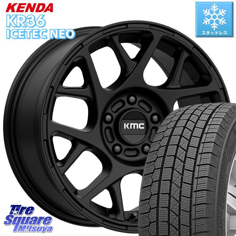 KENDA ICETEC NEO KR36 2020年製 ケンダ スタッドレスタイヤ 215/65R16 KMC KM708 BULLY ホイール セット 16インチ 専用Nut別売 16 X 7.5J(US) +30 5穴 110