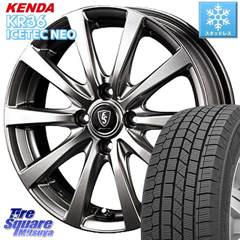 KENDA ICETEC NEO KR36 2020年製 ケンダ スタッドレスタイヤ 185/65R15 MANARAY EUROSPEED ユーロスピード G10 ホイールセット 15インチ 15 X 5.5J +50 4穴 100