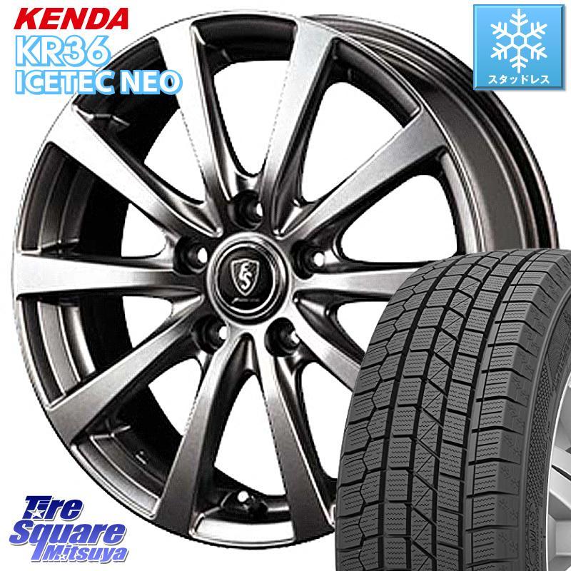 KENDA ICETEC NEO KR36 2020年製 ケンダ スタッドレスタイヤ 185/65R15 MANARAY EUROSPEED ユーロスピード G10 ホイールセット 15インチ 15 X 6.0J +45 5穴 114.3