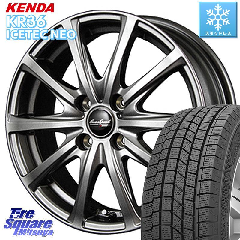 KENDA ICETEC NEO KR36 2020年製 ケンダ スタッドレスタイヤ 175/60R16 MANARAY EuroSpeed ユーロスピード V25 ホイールセット 16インチ 16 X 6.0J +43 4穴 100