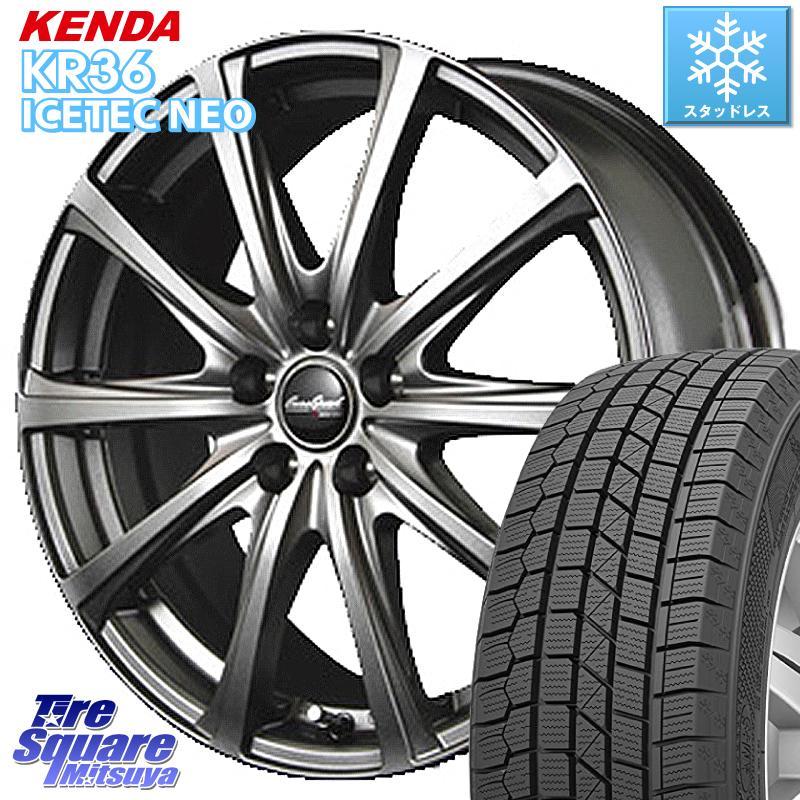 KENDA ICETEC NEO KR36 2020年製 ケンダ スタッドレスタイヤ 185/60R15 MANARAY EuroSpeed ユーロスピード V25 ホイールセット 15インチ 15 X 6.0J +45 5穴 100