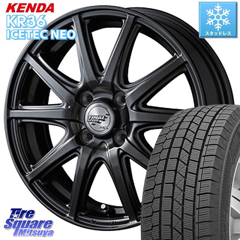 KENDA ICETEC NEO KR36 2020年製 ケンダ スタッドレスタイヤ 185/65R14 MANARAY Final Speed GR-ガンマ ホイールセット 14インチ 14 X 5.5J +38 4穴 100