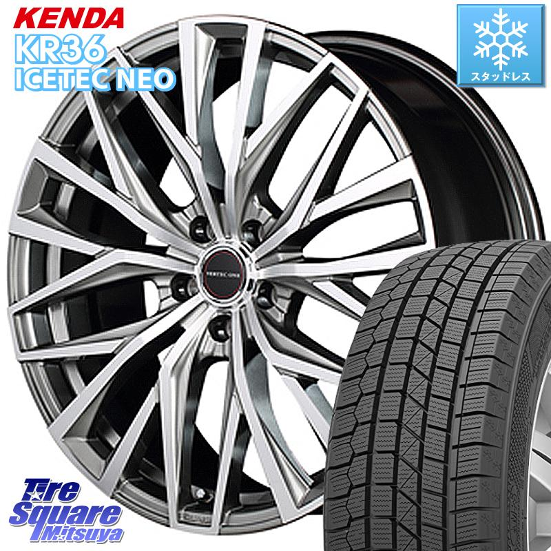 アルファード KENDA ICETEC NEO KR36 2020年製 ケンダ スタッドレスタイヤ 235/50R18 MANARAY VERTEC ONE ALBATROSS ホイールセット 18 X 8.0J +42 5穴 114.3