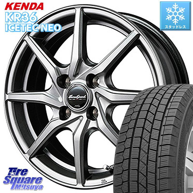 KENDA ICETEC NEO KR36 2020年製 ケンダ スタッドレスタイヤ 185/70R14 MANARAY Euro Speed G810 ホイールセット 14インチ 14 X 5.5J +38 4穴 100