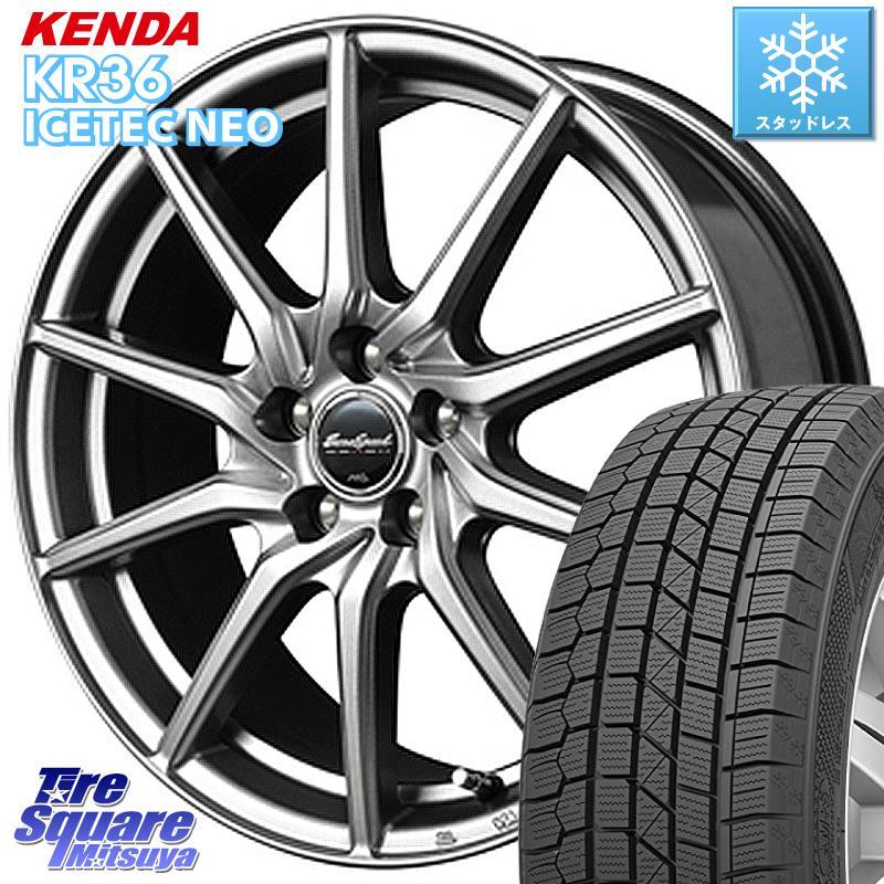 KENDA ICETEC NEO KR36 2020年製 ケンダ スタッドレスタイヤ 185/60R15 MANARAY Euro Speed G810 ホイールセット 15インチ 15 X 6.0J +45 5穴 100