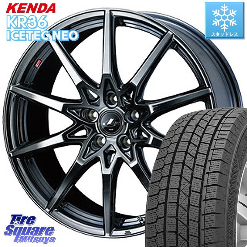 KENDA ICETEC NEO KR36 2020年製 ケンダ スタッドレスタイヤ 225/45R18 WEDS 特価 ウェッズ Leonis レオニス SV ホイールセット 18インチ 18 X 8.0J +42 5穴 114.3