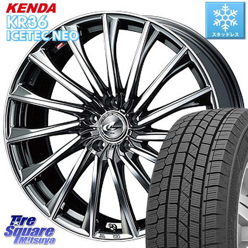 8 20はお盆明け初売りセール フォレスター KENDA ICETEC NEO KR36 2020年製 ケンダ スタッドレスタイヤ 225 60R17 WEDS 37766 レオニス CH ウェッズ Leonis ホイールセット 17インチ 17 X 7.