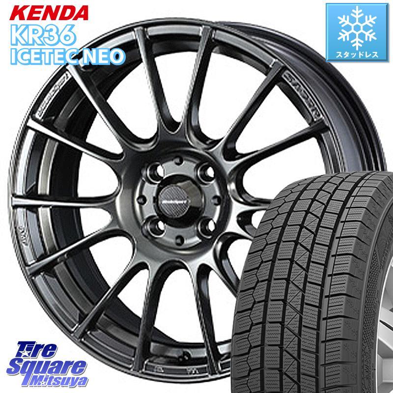 フィット KENDA ICETEC NEO KR36 2020年製 ケンダ スタッドレスタイヤ 185/55R16 WEDS 72673 SA-72R ウェッズ スポーツ ホイールセット 16インチ 16 X 6.5J +48 4穴 100