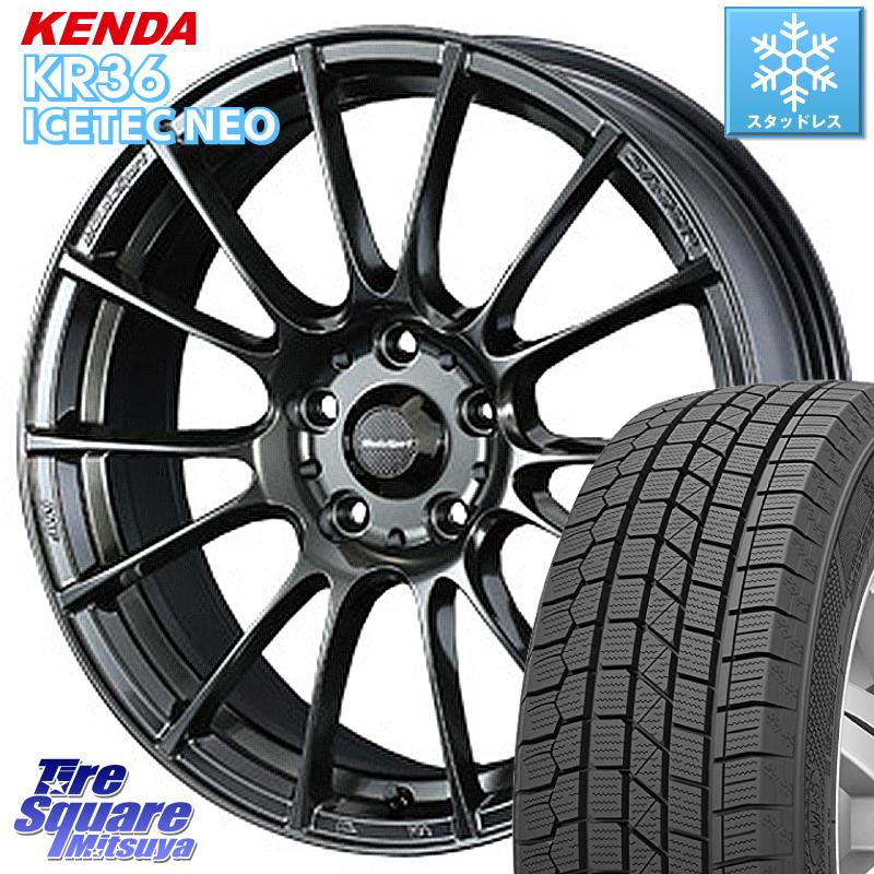 スイフト スイフトスポーツ KENDA ICETEC NEO KR36 2020年製 ケンダ スタッドレスタイヤ 185/55R16 WEDS 72676 SA-72R ウェッズ スポーツ ホイールセット 16インチ 16 X 7.0J +52 5穴 114.3