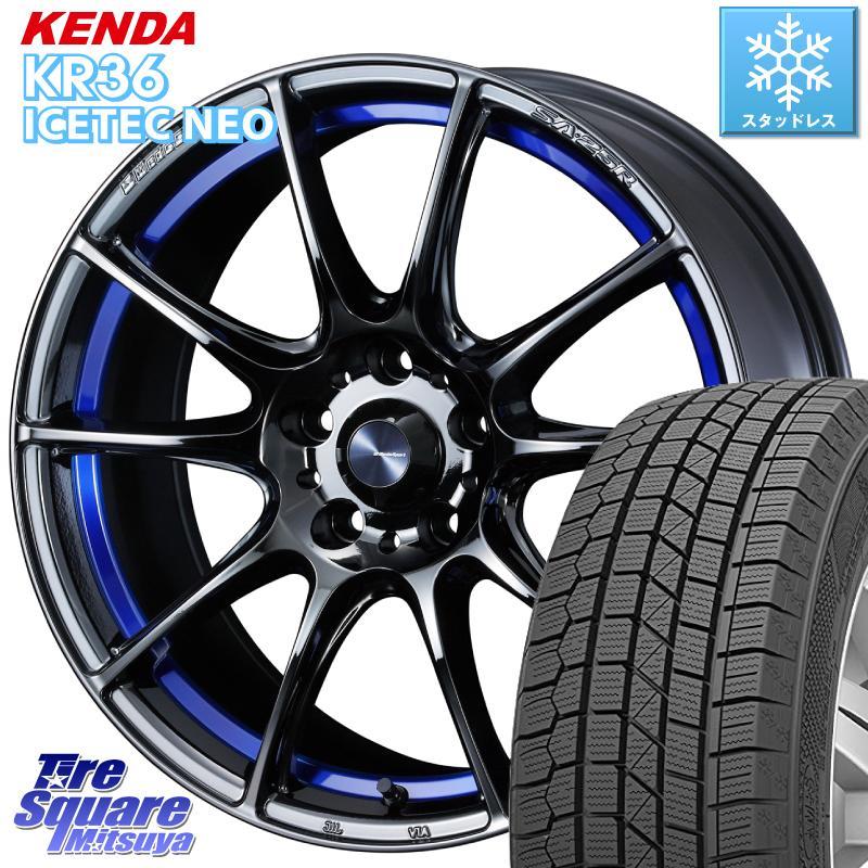【10/25はRカードで最大37倍】 【取付対象】 KENDA ICETEC NEO KR36 2020年製 ケンダ スタッドレスタイヤ 225/55R18 WEDS SA-25R ウェッズ スポーツ ホイール セット 18インチ 18 X 7.5J +35 5穴 114.3