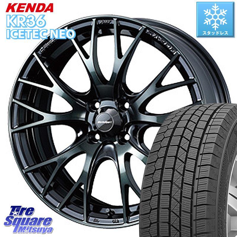 インサイト フィット KENDA ICETEC NEO KR36 2020年製 ケンダ スタッドレスタイヤ 185/55R16 WEDS 72721 SA-20R ウェッズ スポーツ ホイールセット 16インチ 16 X 6.5J +50 4穴 100