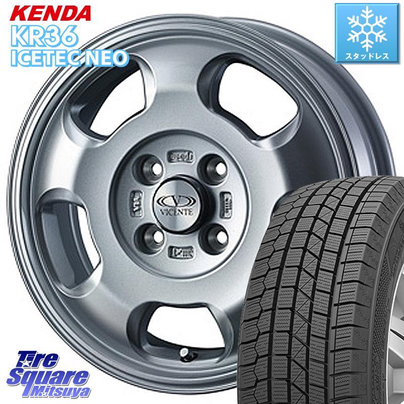 KENDA ICETEC NEO KR36 2020年製 ケンダ スタッドレスタイヤ 175/65R14 WEDS 38673 ヴィセンテ05 ホイールセット 14インチ 14 X 5.0J +39 4穴 100