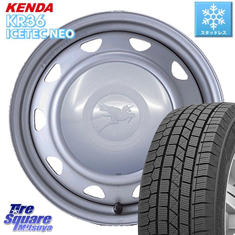 KENDA ICETEC NEO KR36 2020年製 ケンダ スタッドレスタイヤ 175/70R14 WEDS キャロウィン スチールホイール セット 14インチ 14 X 5.5J +40 4穴 100