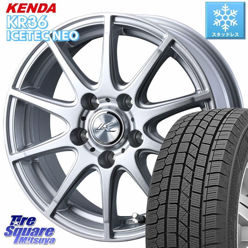 KENDA ICETEC NEO KR36 2020年製 ケンダ スタッドレスタイヤ 185/60R15 WEDS 38429 クライト2 【在庫】ホイールセット 15インチ 15 X 6.0J +43 5穴 114.3