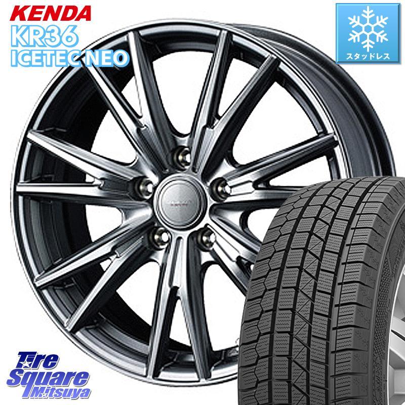 KENDA ICETEC NEO KR36 2020年製 ケンダ スタッドレスタイヤ 175/65R15 WEDS 37564 ウェッズ ヴェルヴァ KEVIN(ケビン) ホイールセット 15インチ 15 X 6.0J +43 5穴 100