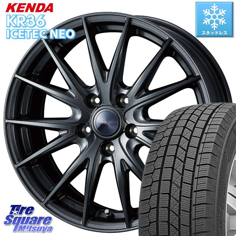 8 20はお盆明け初売りセール エスティマ KENDA ICETEC NEO KR36 2019年製 特価 ケンダ スタッドレスタイヤ 205 65R16 WEDS ウェッズ ヴェルヴァ スポルト2 ホイールセット 16インチ 16 X 6.5J 47 5